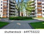 new housing estate in lodz  ... | Shutterstock . vector #649753222