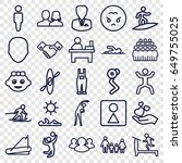 people icons set. set of 25... | Shutterstock .eps vector #649755025