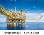 Small photo of Offshore oil and gas central processing platform received raw gas and crude oil then treat and sent to onshore refinery and petrochemical plant to exact hydrocarbon.