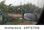 rain on the windshield  severe... | Shutterstock . vector #649767406
