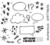 vector collection of hand drawn ... | Shutterstock .eps vector #649778656