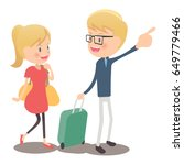 the couple who is traveling | Shutterstock .eps vector #649779466