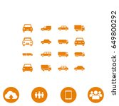 transport icon  stock vector... | Shutterstock .eps vector #649800292