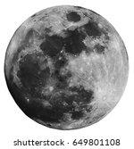 full moon isolated on white... | Shutterstock . vector #649801108