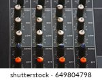 button to receive amplifier ... | Shutterstock . vector #649804798
