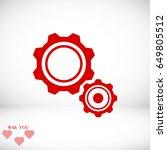 gear icon  vector best flat... | Shutterstock .eps vector #649805512
