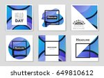 abstract vector layout... | Shutterstock .eps vector #649810612