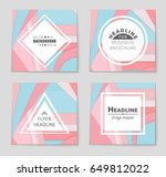 abstract vector layout...   Shutterstock .eps vector #649812022