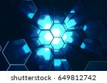 abstract blue of futuristic... | Shutterstock . vector #649812742
