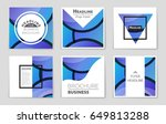 abstract vector layout... | Shutterstock .eps vector #649813288