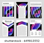 abstract vector layout... | Shutterstock .eps vector #649813552