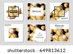 abstract vector layout... | Shutterstock .eps vector #649813612