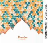 ramadan kareem. orange... | Shutterstock .eps vector #649817356