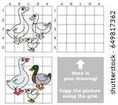 copy the picture using grid... | Shutterstock .eps vector #649817362