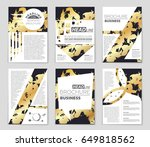 abstract vector layout... | Shutterstock .eps vector #649818562
