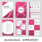 abstract vector layout... | Shutterstock .eps vector #649818565
