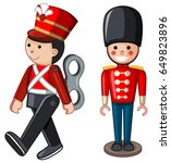 soilder toys on white... | Shutterstock .eps vector #649823896