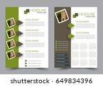 flyer template. brochure set.... | Shutterstock .eps vector #649834396