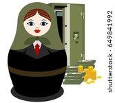 russian nesting doll banker at...   Shutterstock .eps vector #649841992