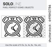 pixel perfect solo line alarm... | Shutterstock .eps vector #649843786