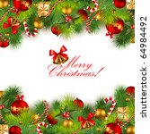christmas background with... | Shutterstock .eps vector #64984492