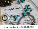 wrongful death doctor talk and  ... | Shutterstock . vector #649848238