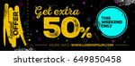 horizontal sale poster design.... | Shutterstock .eps vector #649850458