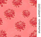 seamless  floral pattern with... | Shutterstock .eps vector #649851202