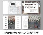 set of business templates for... | Shutterstock .eps vector #649854325