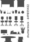 illustration set of silhouettes ... | Shutterstock .eps vector #649855432