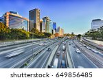 Wide View Of Multi Lane...