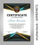 certificate of appreciation ... | Shutterstock .eps vector #649859872