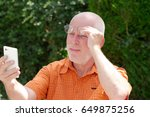 a mature man has problems with... | Shutterstock . vector #649875256