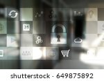data protection and cyber... | Shutterstock . vector #649875892