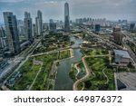 SONGDO CENTRAL PARK, INCHEON, KOREA. A view from G-TOWER in Songdo, Incheon. Songdo is a newly developed business and residential town in Incheon, south west of Seoul.