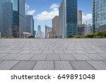 empty brick floor with... | Shutterstock . vector #649891048