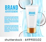 realistic cosmetic container... | Shutterstock .eps vector #649900102