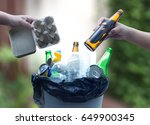 recyclable garbage consisting ... | Shutterstock . vector #649900345