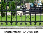 forged fencing for parks and... | Shutterstock . vector #649901185