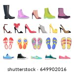 Collection Of Shoes Types Icon...