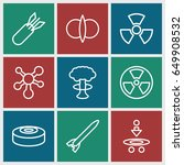 atomic icons set. set of 9... | Shutterstock .eps vector #649908532