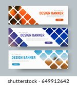 design of white web banners... | Shutterstock .eps vector #649912642