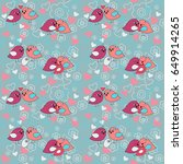 seamless festive pattern with a ... | Shutterstock .eps vector #649914265