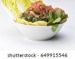 tabbouleh salad  traditional...   Shutterstock . vector #649915546
