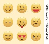 set of emoticons  icon pack ... | Shutterstock .eps vector #649918036