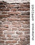 old red brick wall textures and ... | Shutterstock . vector #649921405