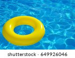 colorful inflatable tube... | Shutterstock . vector #649926046