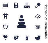 set of 13 baby icons set...   Shutterstock .eps vector #649927666