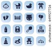 set of 16 child icons set...   Shutterstock .eps vector #649927726