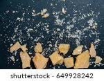 parmesan cheese space for text... | Shutterstock . vector #649928242